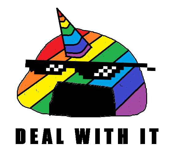 Rainbow unigiri deal with it.png - Deal With It PNG