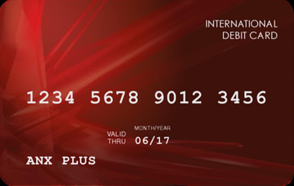 File:ANX PLUS Debit Card.png - Debit Card PNG