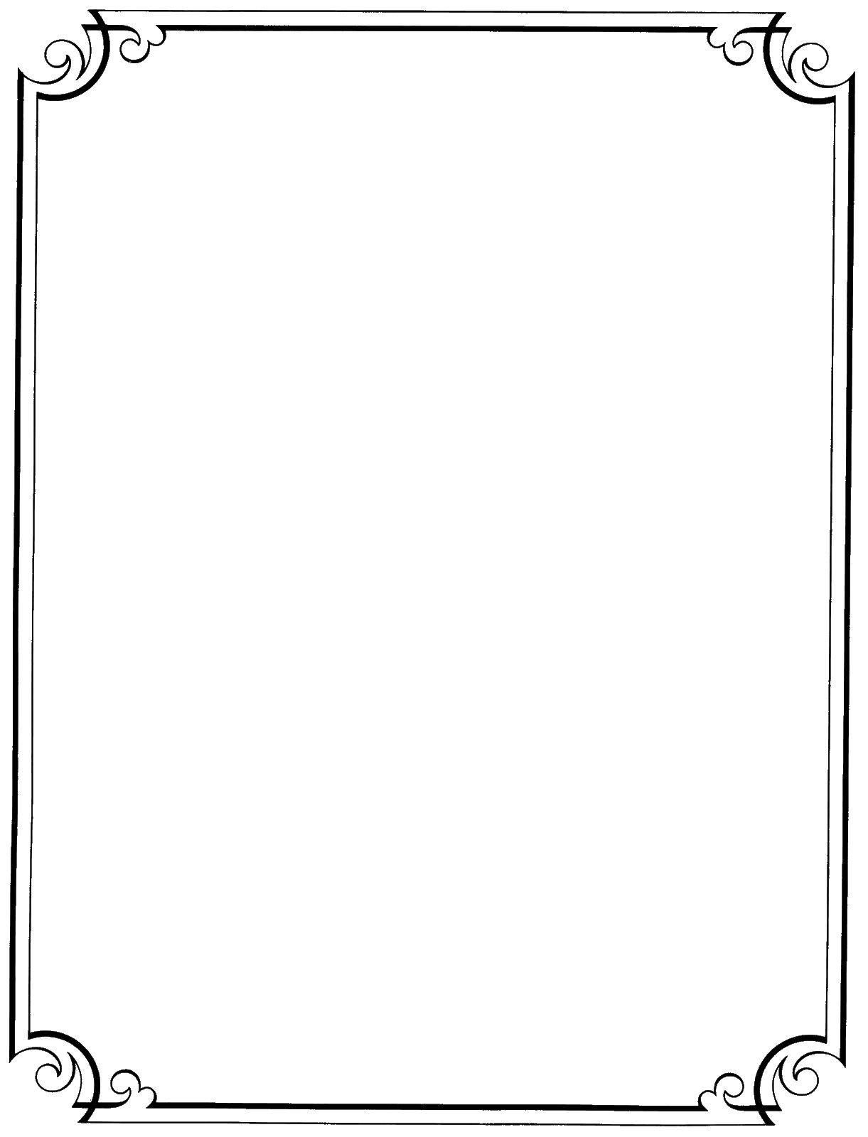Fancy Page Borders - ClipArt Best - ClipArt Best - Decorative Border PNG