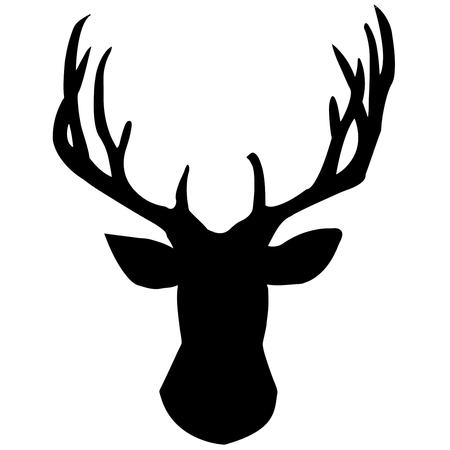 Deer Head PNG Pic - Deer Head PNG Black And White