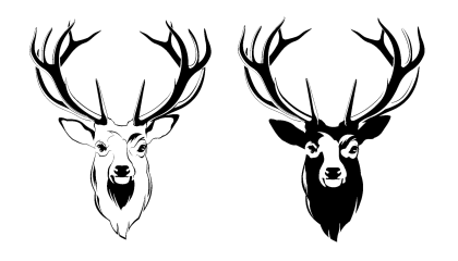 Deer Head PNG Picture - Deer Head PNG Black And White