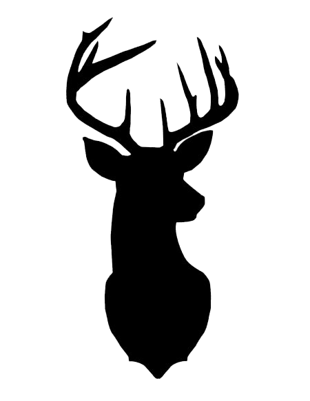 Deer Head Silhouette Plus - Deer Head PNG Black And White