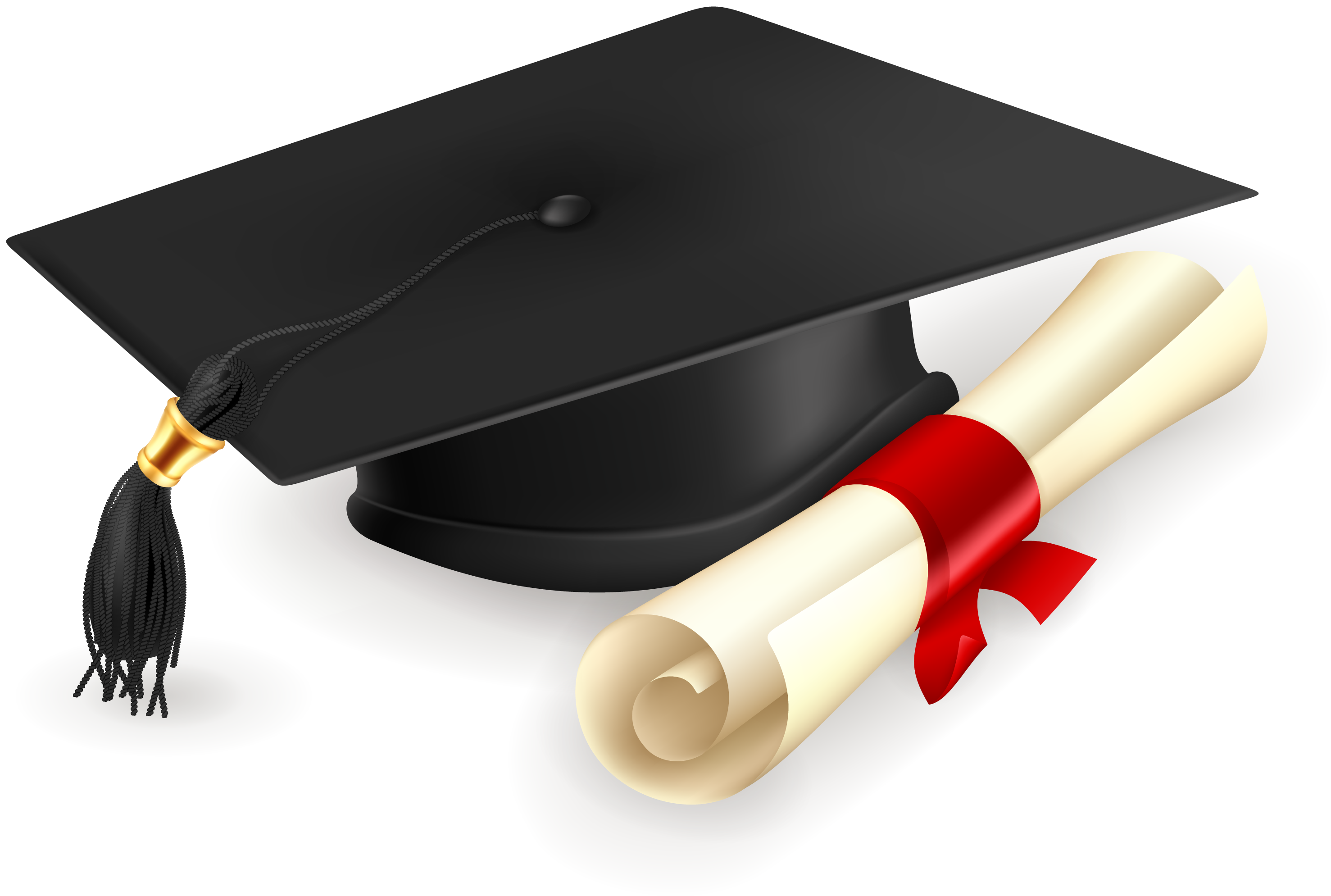 Graduation Caps - Degree Cap PNG