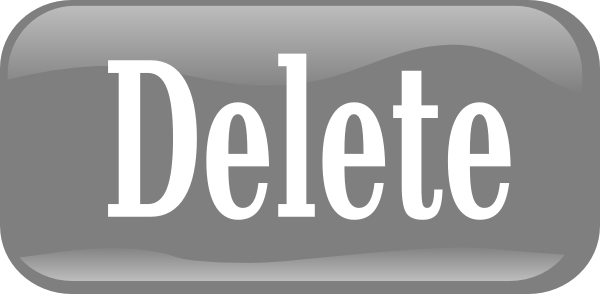 Delete Button PNG - 25800