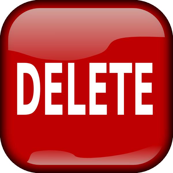Delete Button PNG - 25797