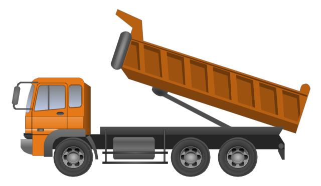 Dumper truck, dumper truck, - Delivery Truck Unloading PNG