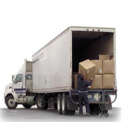 Full Truck Load Services - Delivery Truck Unloading PNG