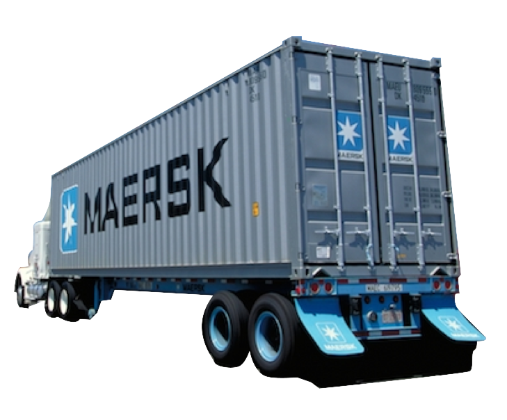 Ocean Container Delivery (anywhere outside USA) - Delivery Truck Unloading PNG