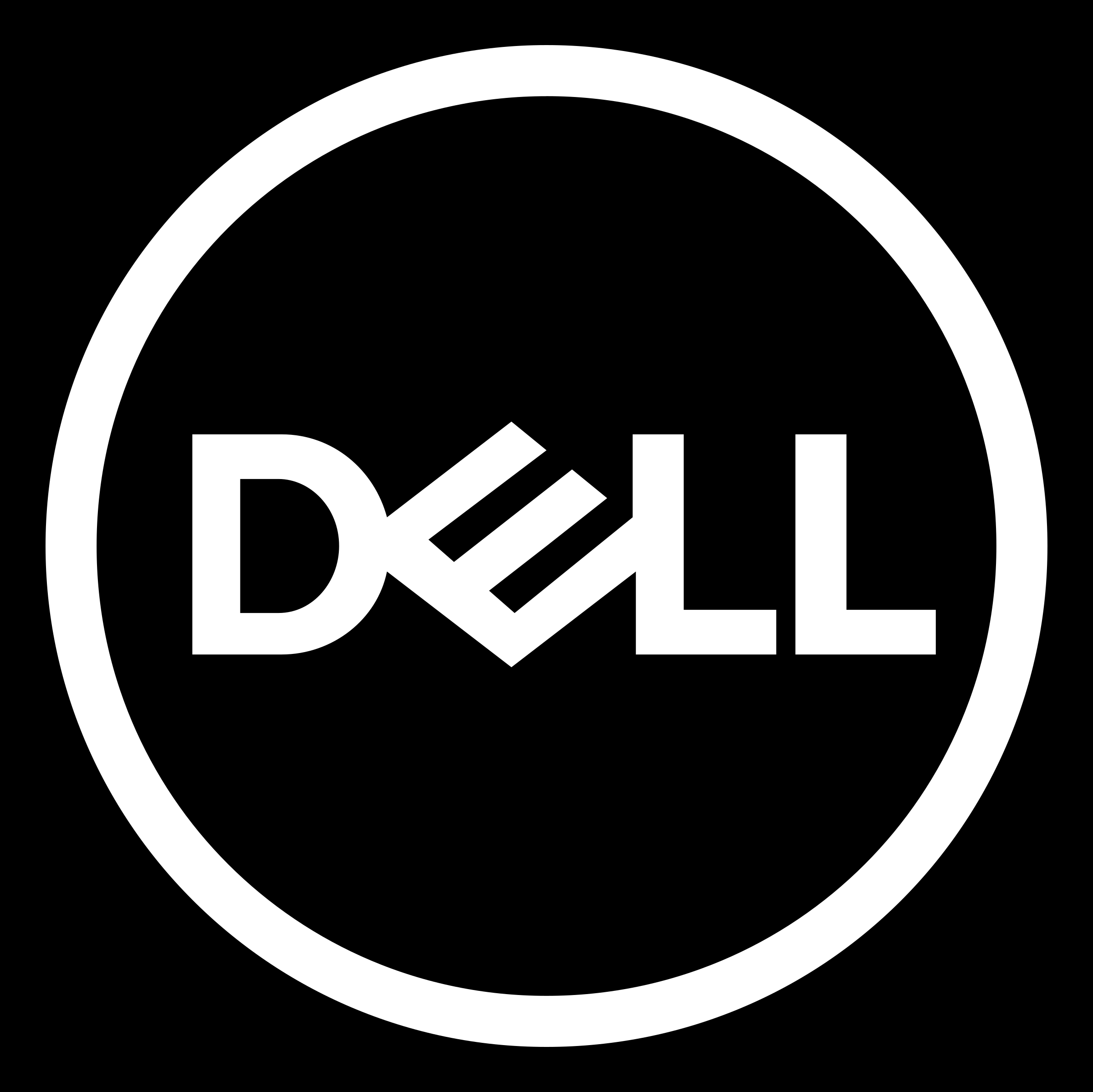 Dell Logo White - Dell Vector PNG