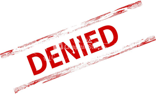 Denied Stamp - Rejected Stamp PNG