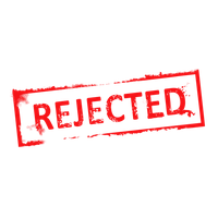 Rejected Stamp PNG - 3891