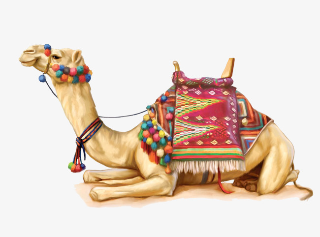 Painted desert camel, Hand Painted, Desert, Camel PNG Image and Clipart - Desert Camel PNG