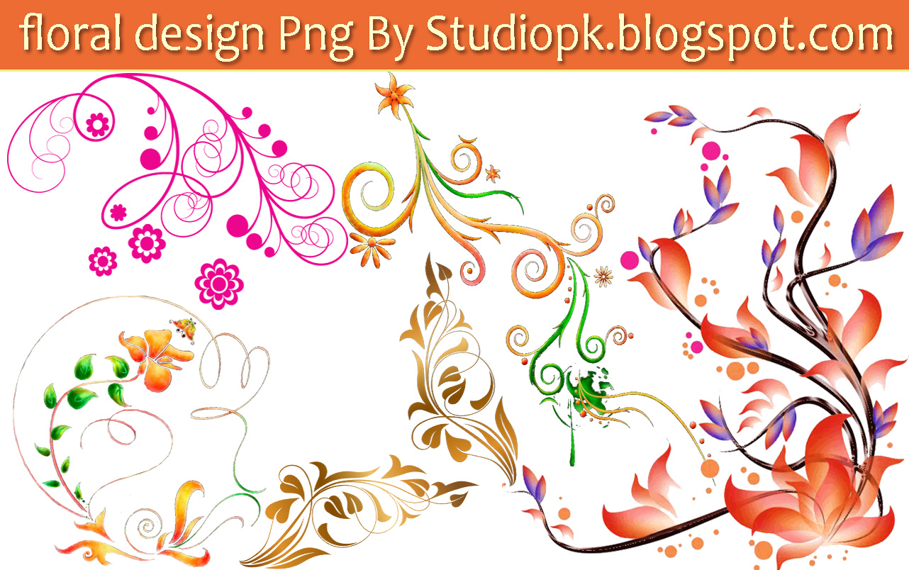 Floral Design PNG HD Photo Do
