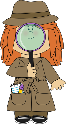 Girl Detective with Magnifying Glass - Detective PNG Melonheadz