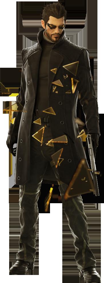 Adam Jensen w: trenchcoat.png - Deus Ex PNG