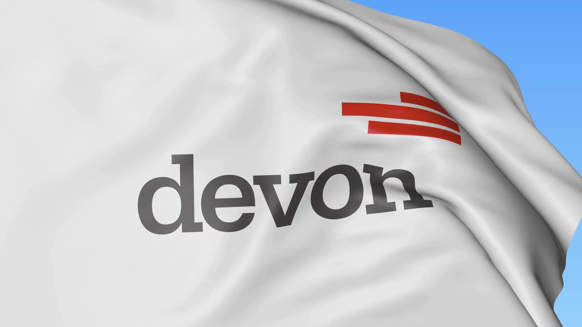 Waving flag with Devon Energy logo. Seamles loop 4K editorial animation  Stock Video Footage - VideoBlocks - Devon Energy PNG