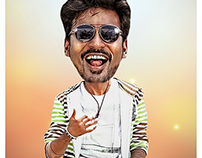 Dhanush Caricature - Dhanush PNG