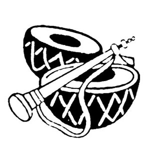 Dhol PNG Black And White - 135143