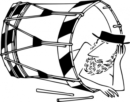 Dhol PNG Black And White - 135140