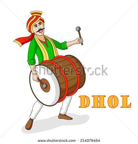 Dhol PNG Black And White - 135147