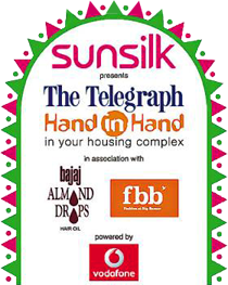 For 100 housing complexes across the city it will be four days of fun, food  and festive fervour with The Telegraph Hand In Hand - - Dhunuchi PNG