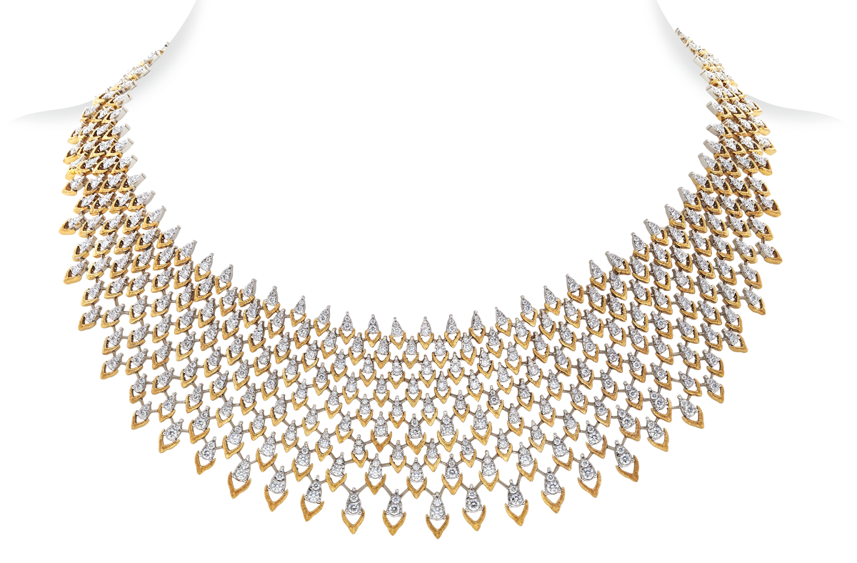 Brocade Diamond Necklace