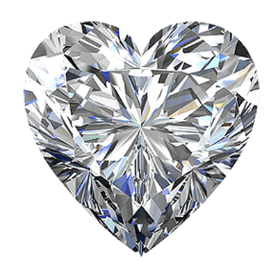 White Heart Diamond - Diamond PNG