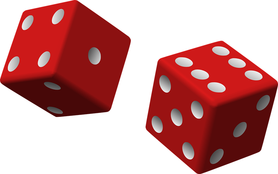 Dice, Red, Two, Game, Rolling, Chance - Dice HD PNG
