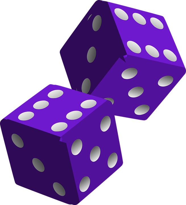 Purple Hd Clipart - Dice HD PNG