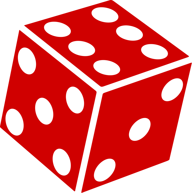 Red Dice Clipart - Dice HD PNG