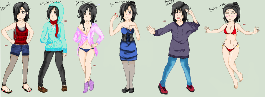 Different Clothes Types by Nami-san13 PlusPng.com  - Different Types Of Clothes PNG