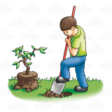 Boy Digging Hole PlusPng.com  - Digging A Hole PNG