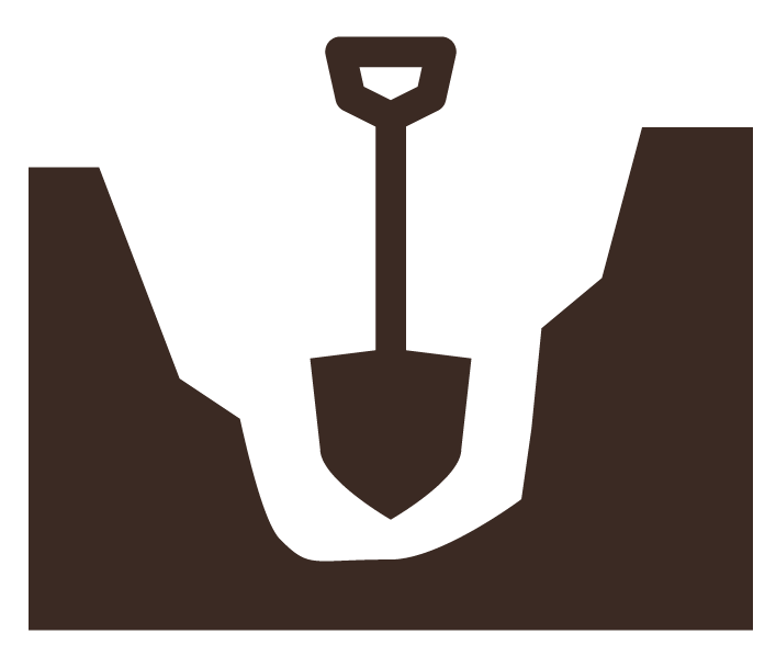 Clip Art Image Of A Shovel Digging A Hole In The Ground - Digging A Hole PNG