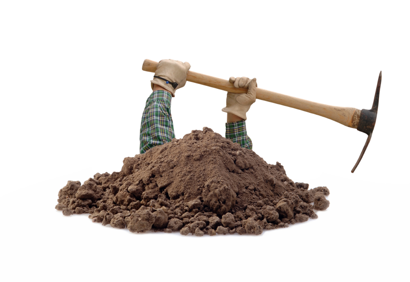 First Law Of Holes Is Stop Digging - Digging A Hole PNG