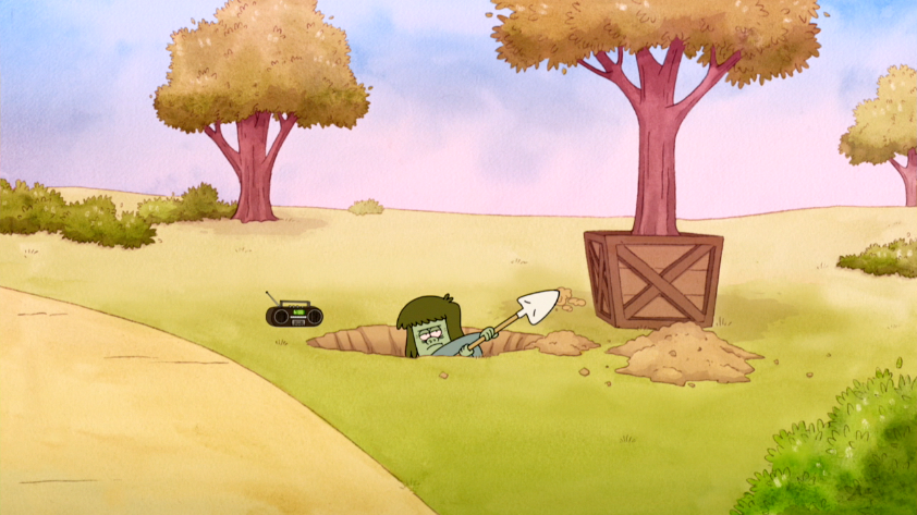 S4E07.002 Muscle Man Digging A Hole For A Tree.png - Digging A Hole PNG