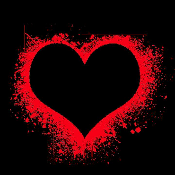 Ücretsiz çizim: Kalp, Aşk,