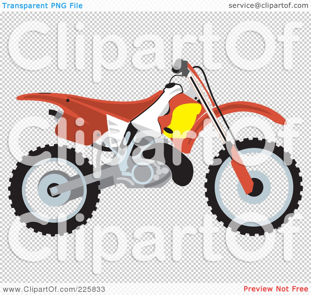 1080x1024 Royalty Free (RF) Clipart Illustration of a Red Dirt Bike by David - Dirt Bike PNG Free