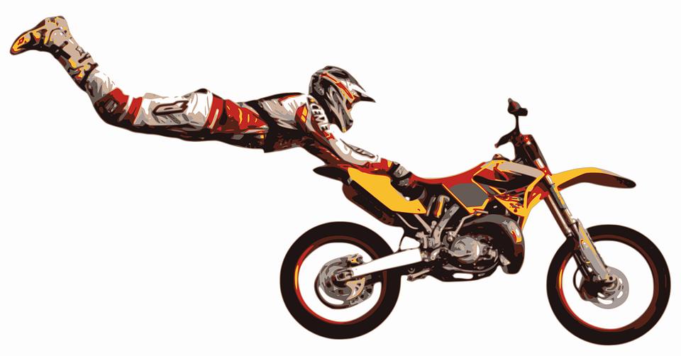 stuntman motocross stunt jump motorcycle bike - Dirt Bike PNG Free