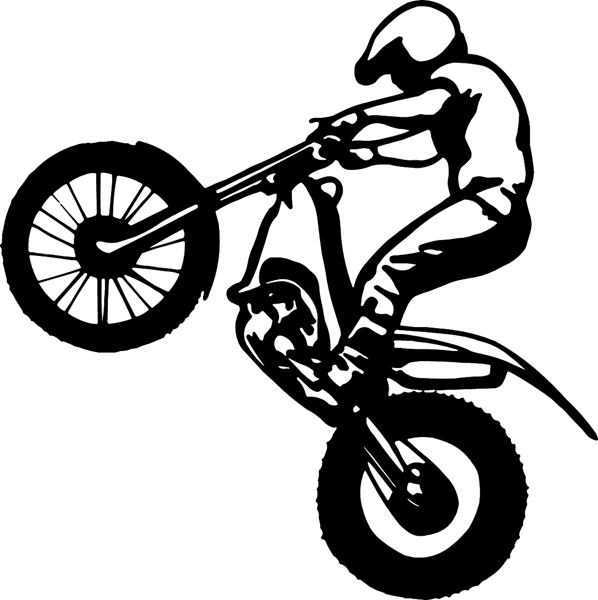 Cartoon Dirt Bike Pictures - Dirt Bike Wheelie PNG