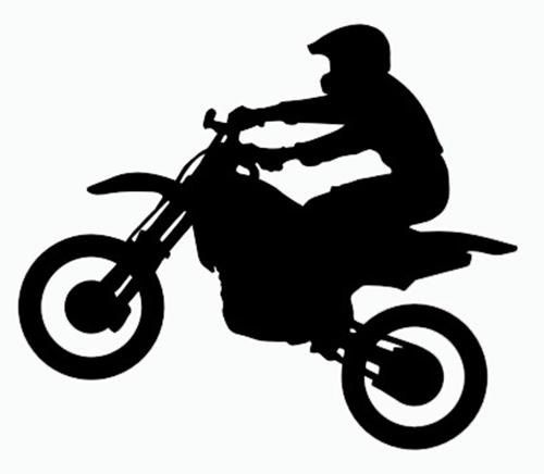 Dirt Bike Silhouette Clipart #1 - Dirt Bike Wheelie PNG
