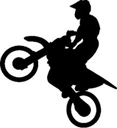 dirt bike silhouette vector - Google Search - Dirt Bike Wheelie PNG