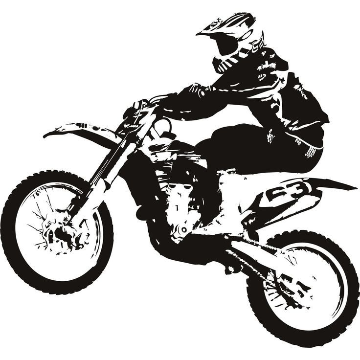 Motocross Bike Clipart #1 - Dirt Bike Wheelie PNG