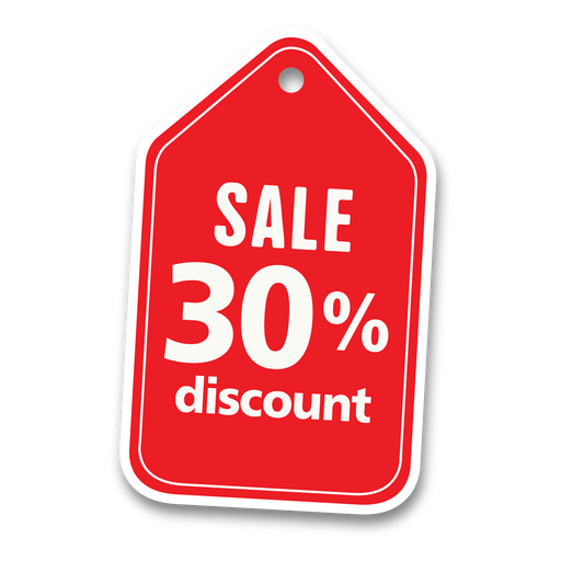 30 percent discount sale tag png - Discount PNG