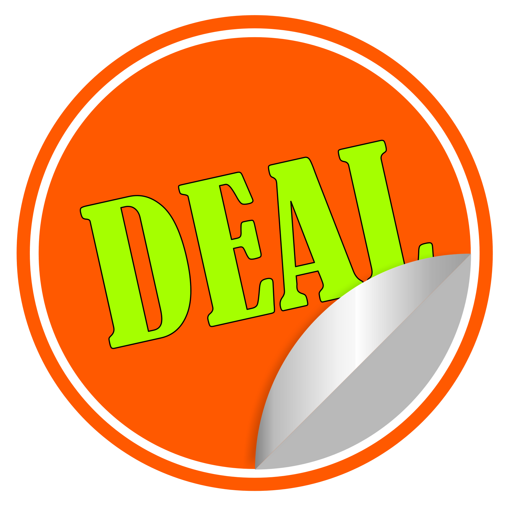 Deal Sticker Vector PNG Transparent Image - Discount PNG