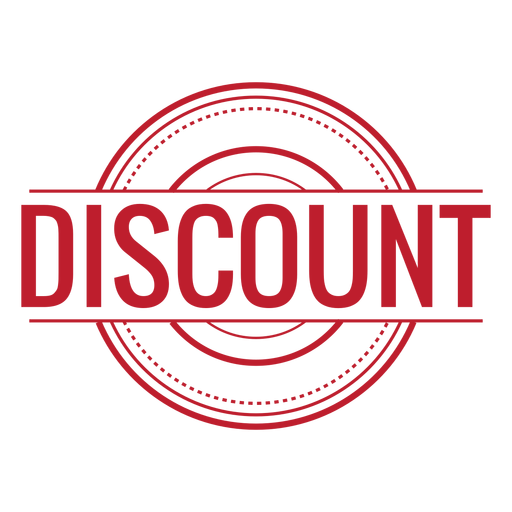 Discount red rounded - Discount PNG