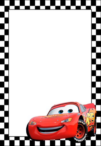 Cars Free Printable Frames, Invitations or Cards. - Disney Cars PNG HD Free