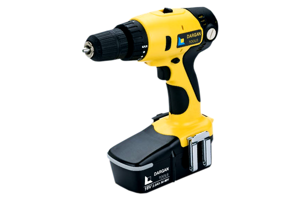 18v Cordless Drill - 2 x Rechargeable Batteries - Diy Tools PNG