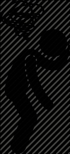 blur, dizzy, fed up, headache, man, person, sad icon - Dizzy Man PNG