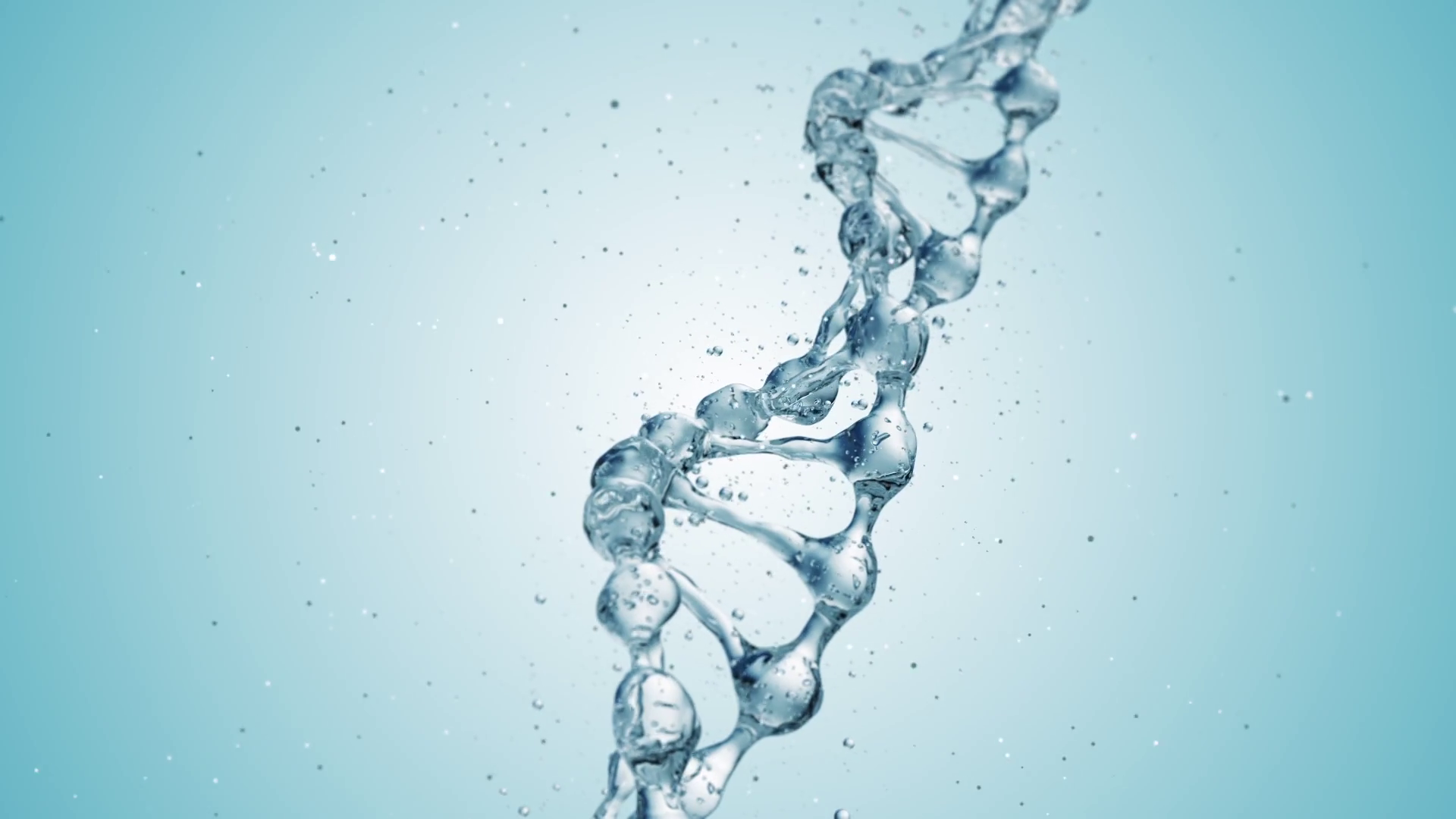 DNA molecule in water 3d illustration over blue background. HD Motion  Background - VideoBlocks - Dna PNG HD
