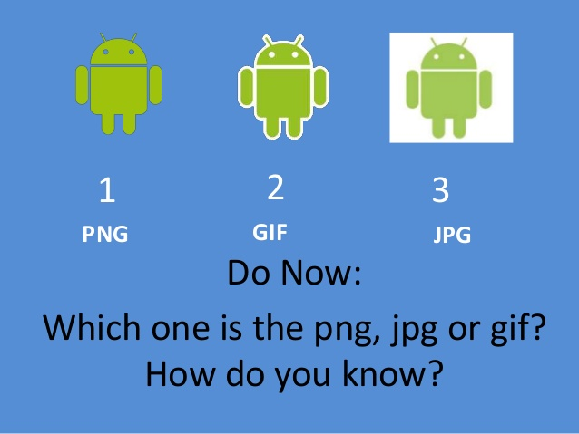 Do Now: Which one is the png, jpg or gif? - Do Now PNG